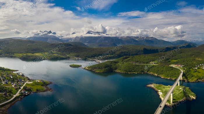 Panorama Schöne Natur Norwegen.