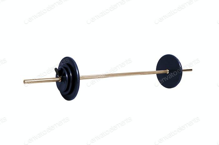 Fitnessstudio Gewicht isoliert auf weiß