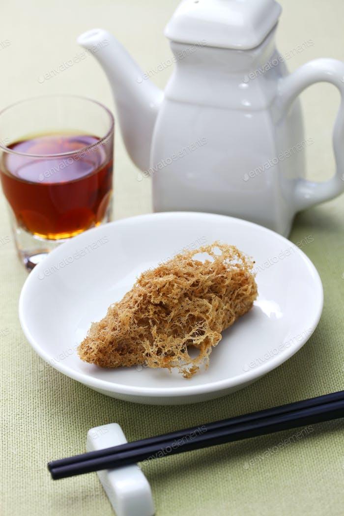 deep fried honeycomb taro dumplings