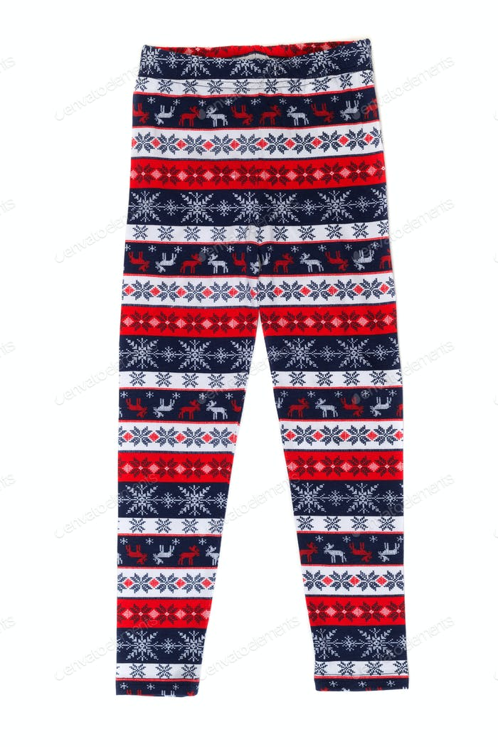 Women's pants (pajamas) with deer pattern.