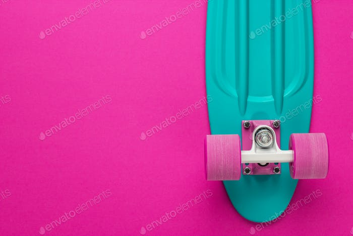 Mini Cruiser Board On Deep Pink Back