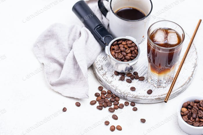 Espresso tonic, trendy coffee drink