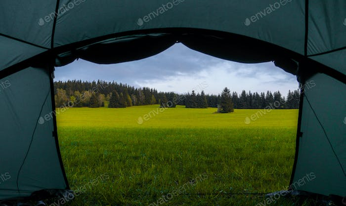 camp tent view