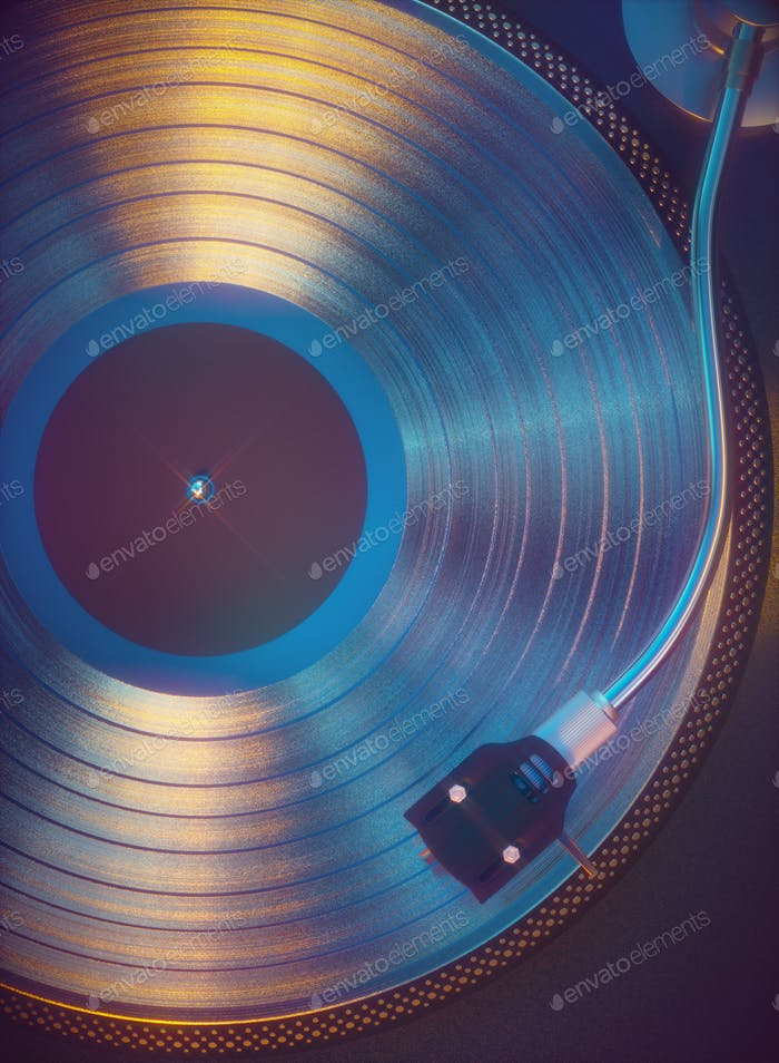 Colorful Vinyl Retro Music