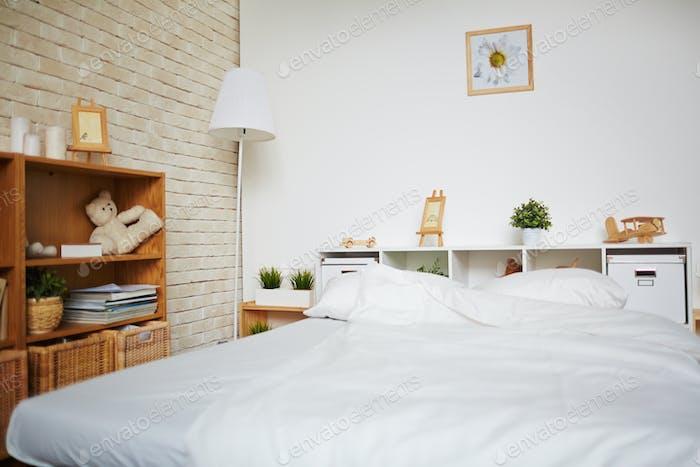 Bed in bedroom