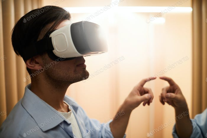 Guy in virtual reality