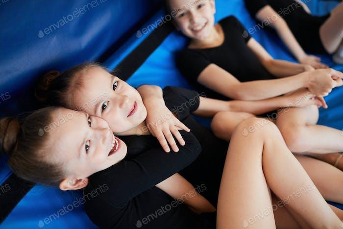 Girls Having Fun in Training