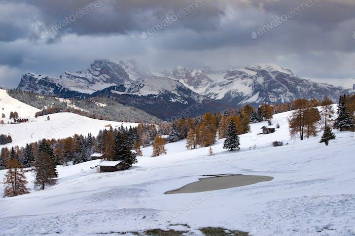 Seiser Alm im Winter.
