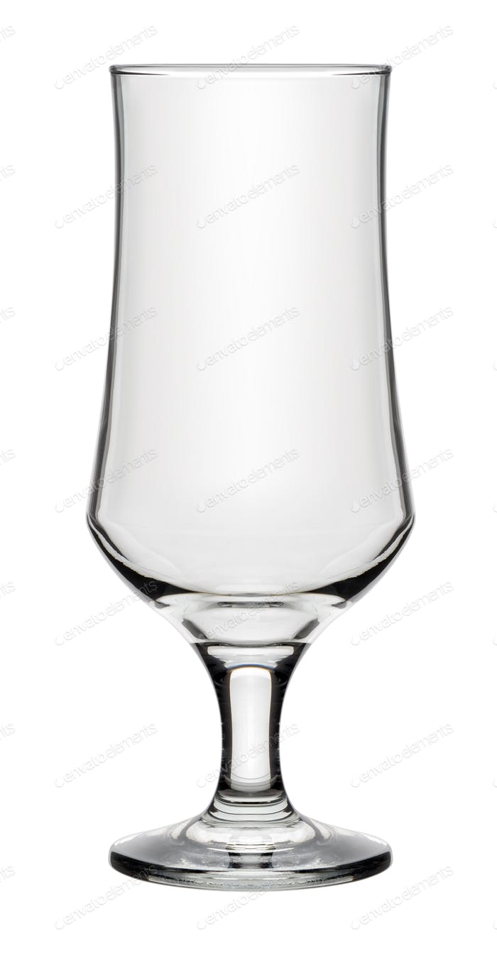 Single empty beer glass