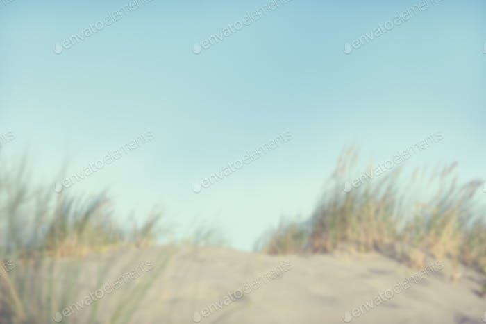Defokussierte Sanddünen mit Gras