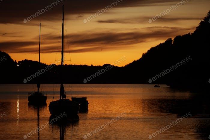 Lac Marina Coucher de soleil