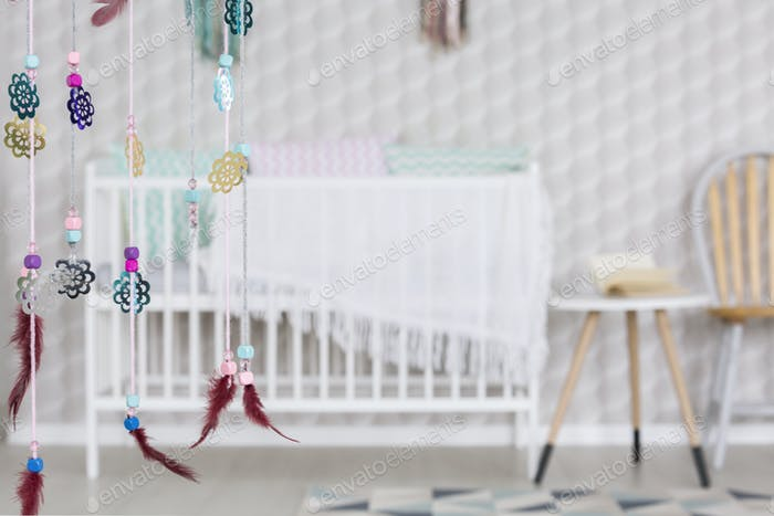 Dreamcatcher in baby room
