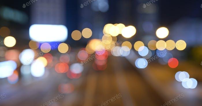 Размытие городской уличной ночи