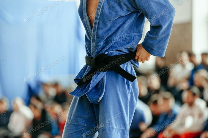 judoka blue kimono