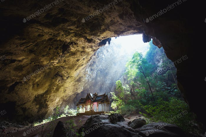 Phraya Nakhon Cave is the most popular pavilion at Prachuap, Thailand.