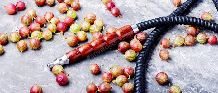 Stylish oriental shisha with gooseberry