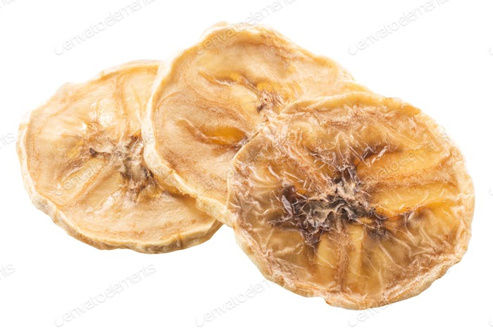 Banana chips isolated, paths