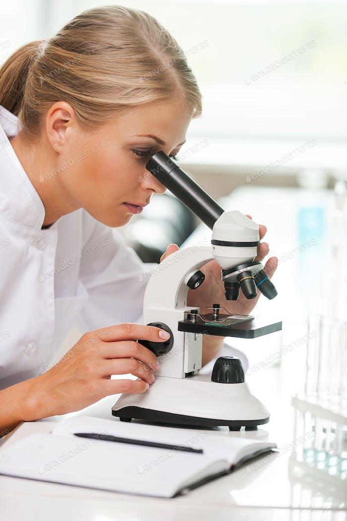 Wissenschaftler bei der Arbeit.