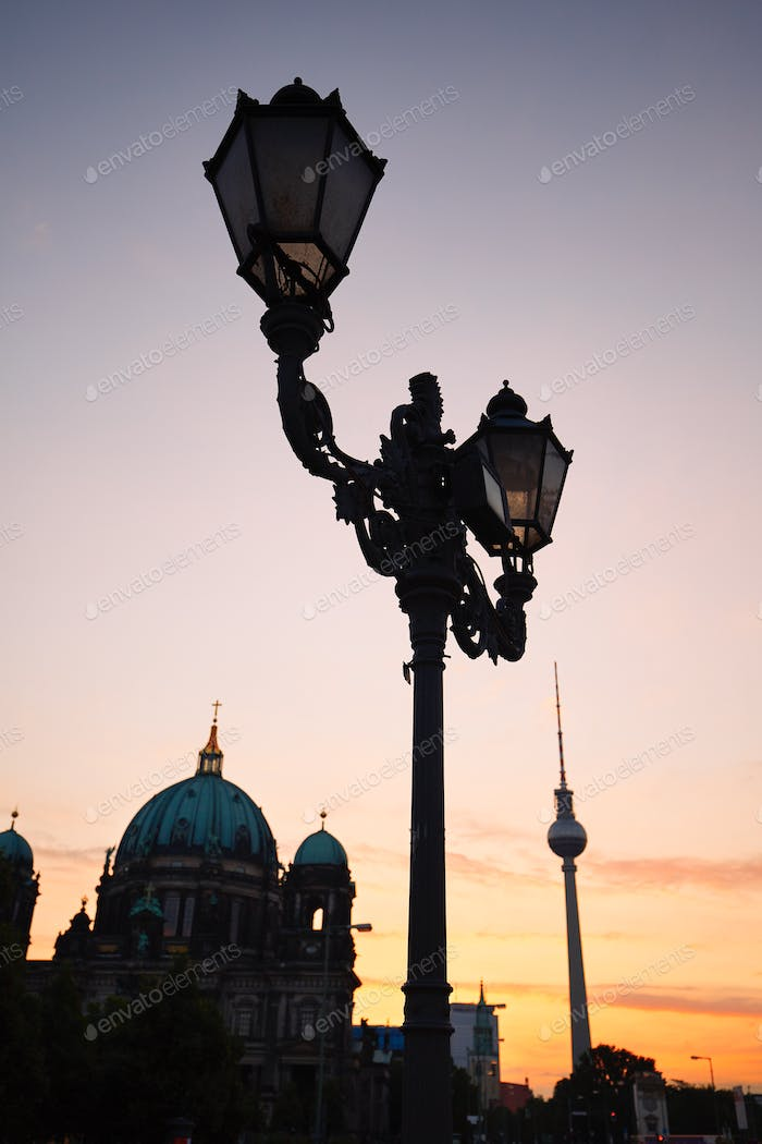 Berlin at the sunrise