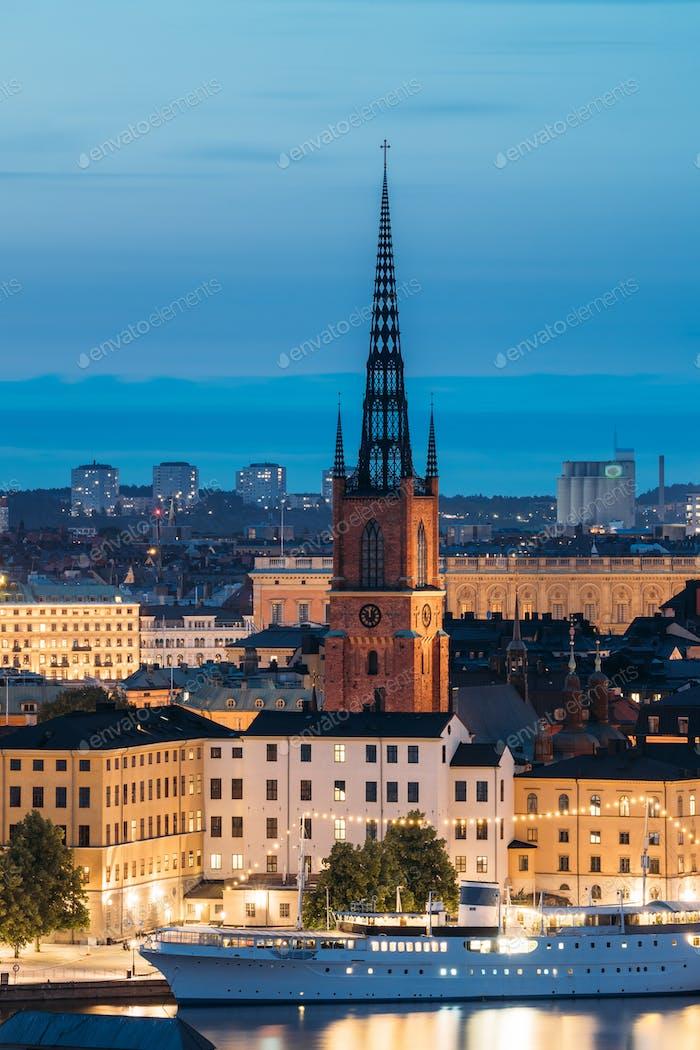 Thumbnail for Stockholm, Sweden. Scenic View Of Stockholm Skyline At Summer Evening. Famous Popular Destination