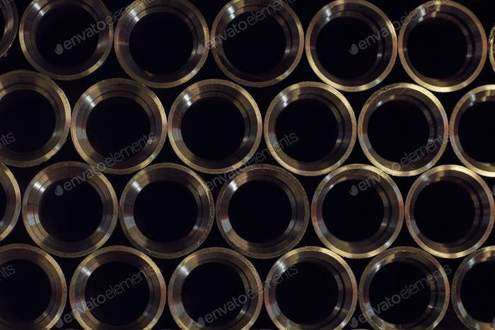 Metal pipes in the factory