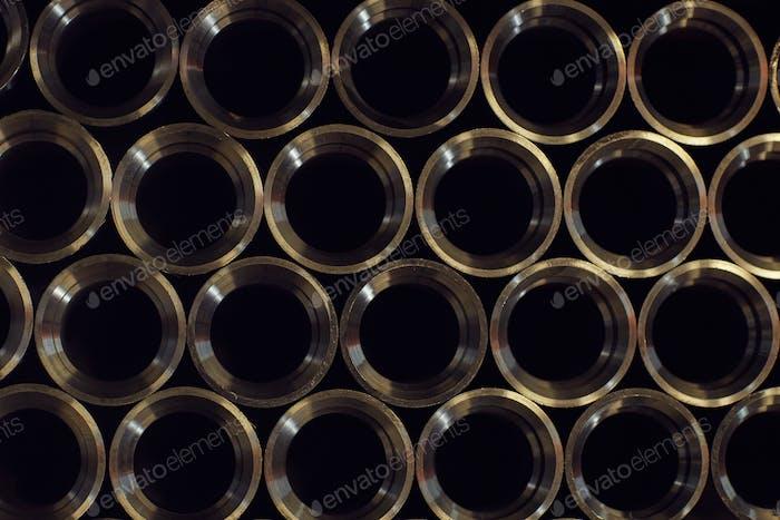Metallrohre in der Fabrik