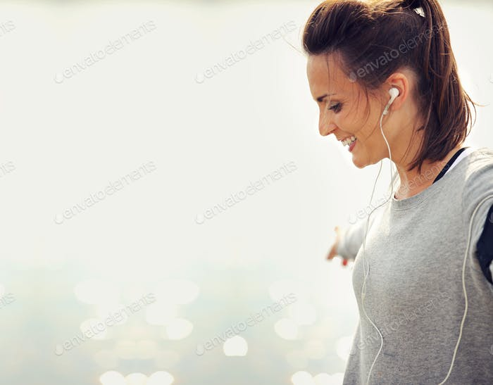 Woman Runner Smiling