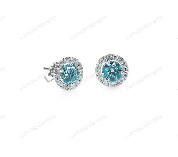 Blue Diamond Ohrstecker