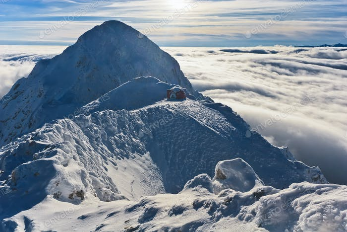 mountain top in winter