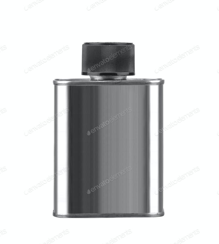 Gray Aerosol Spray Metal Bottle Can isolated on white background