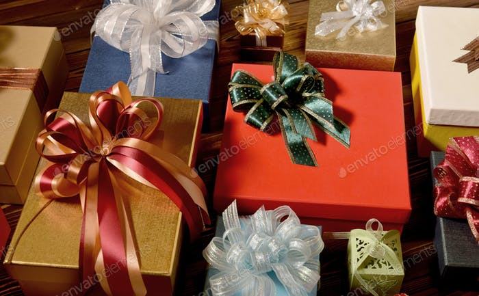 Mixture of gift boxes