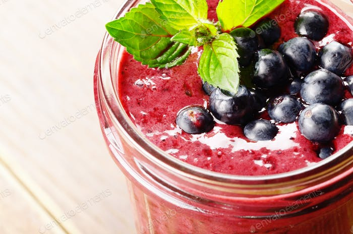 Blueberry healthy smoothie