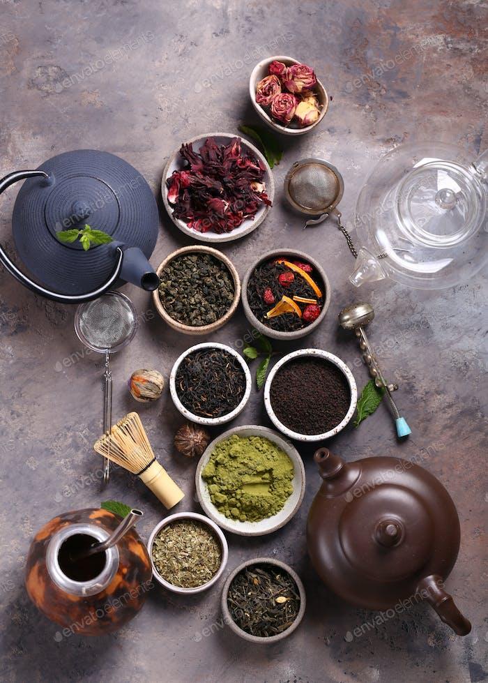 Assortment of Various Tea