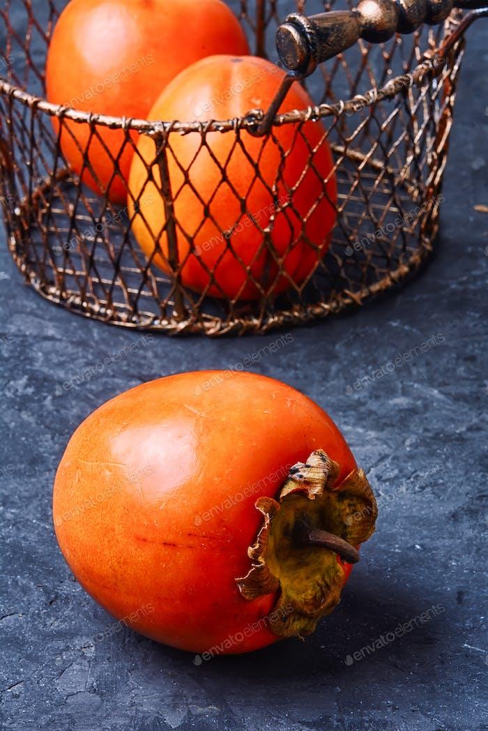 Reife Persimmon Frucht