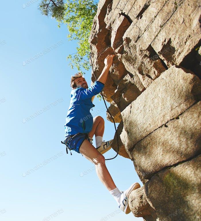 Adventurous climber