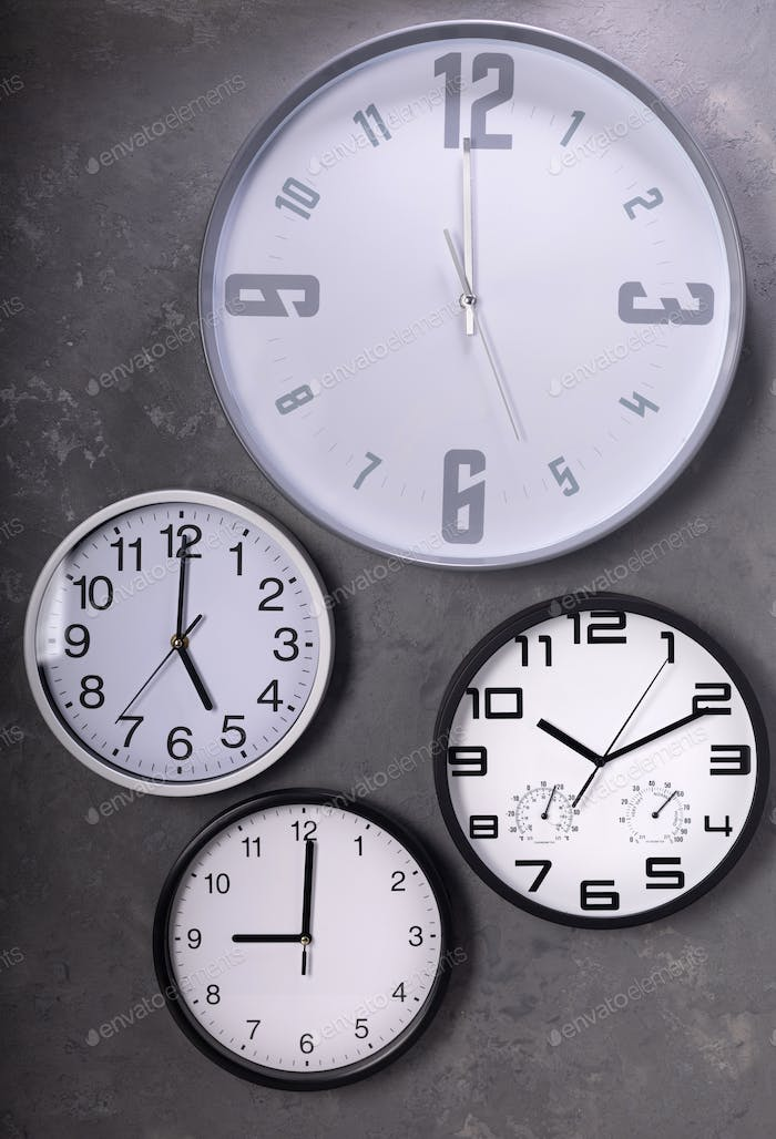 collection of wall clock