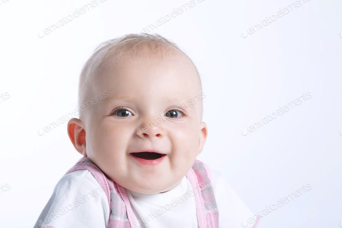cute sweet baby on white
