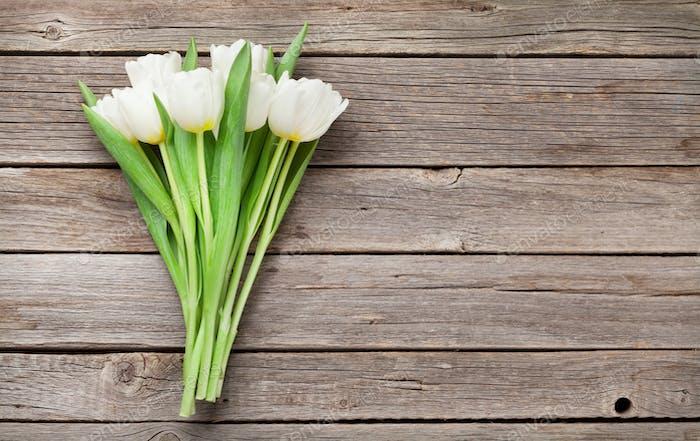 Weiße Tulpen Blumenstrauß