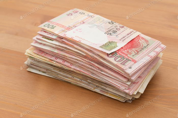 Stack of money bank note