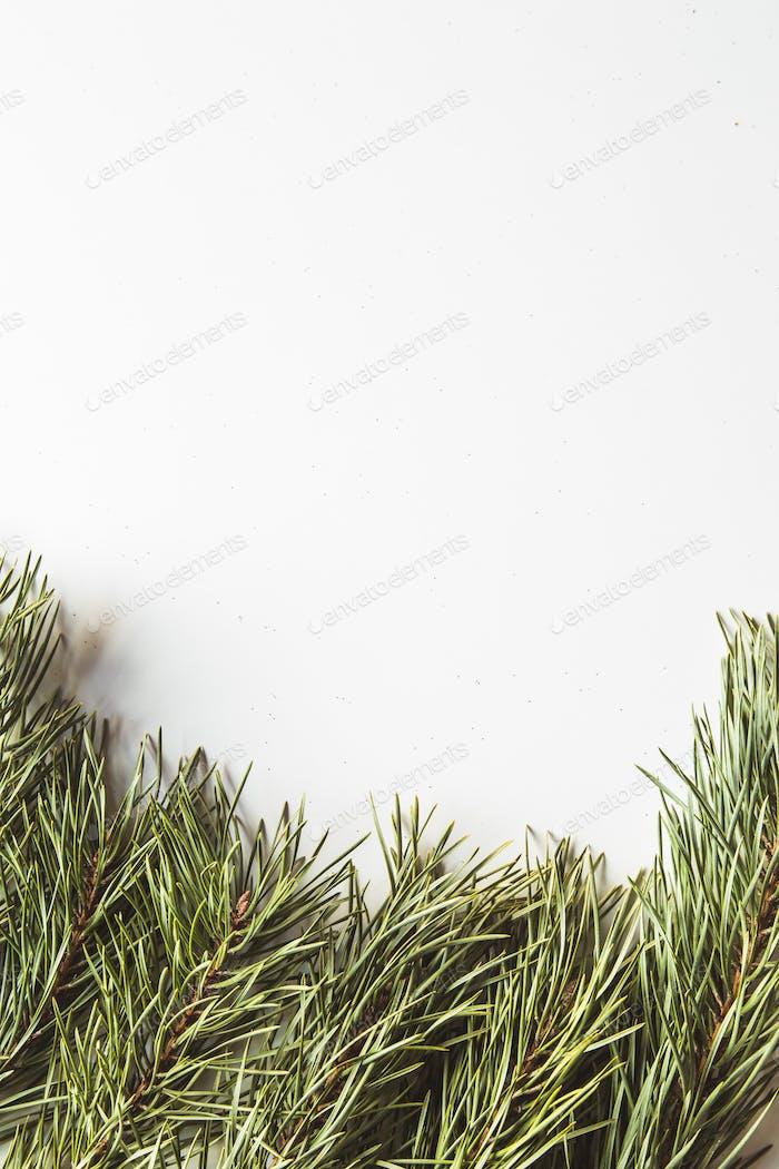 Weihnachtsdekoration auf dem weißen