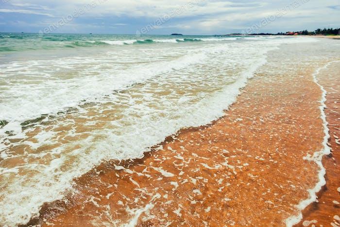sea waves and foam
