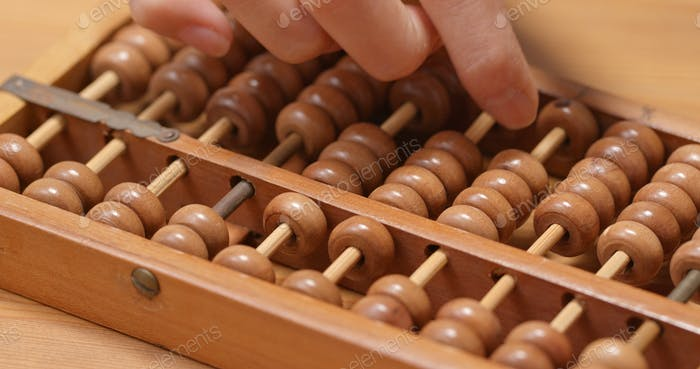 Calculate on abacus