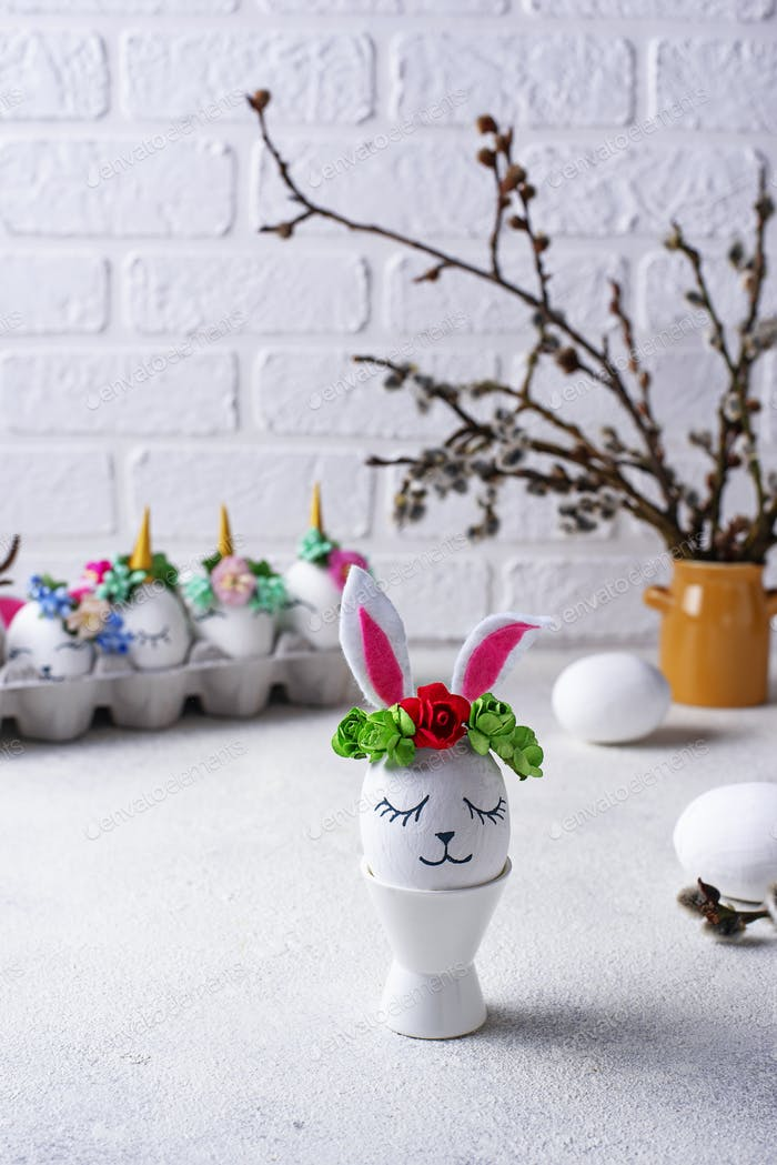 Easter eggs in shape of bunny