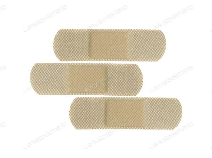 Plaster band on white background
