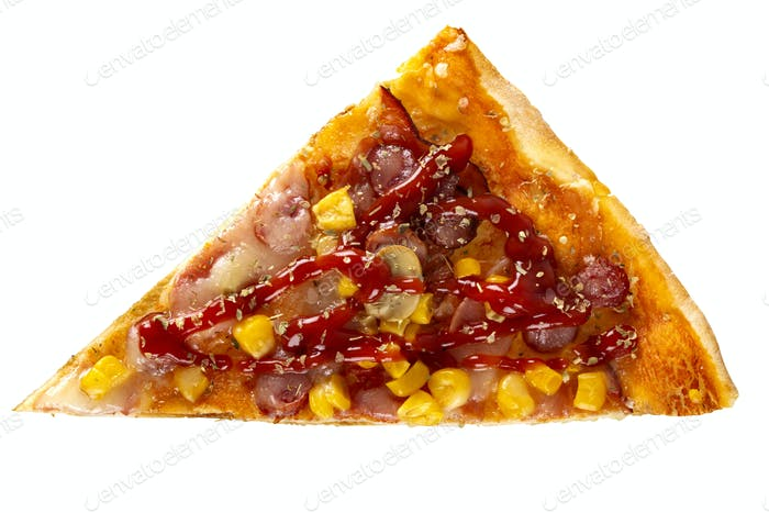 Scheibe hausgemachte Pizza