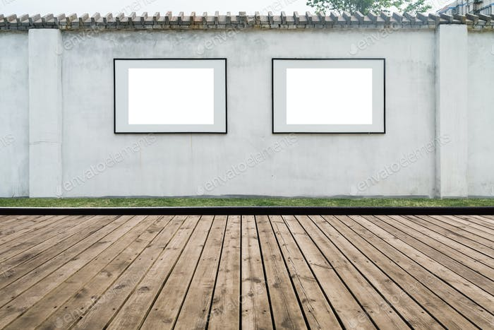 blank frame on the wall