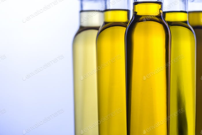 Different kinds of vegetable oil