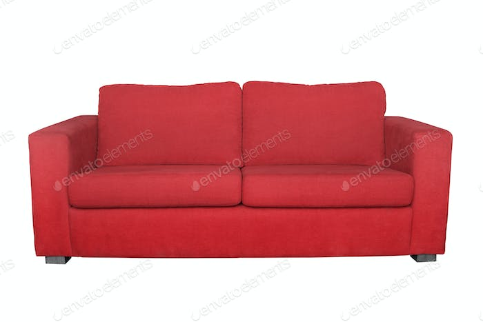 red sofa isolated