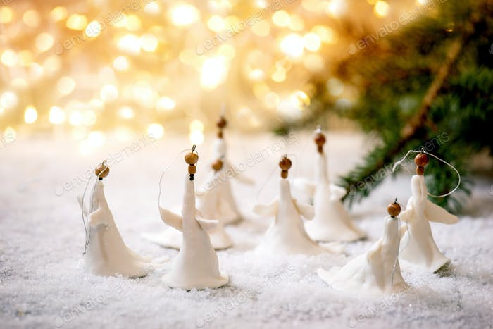 Porcelain Christmas angels