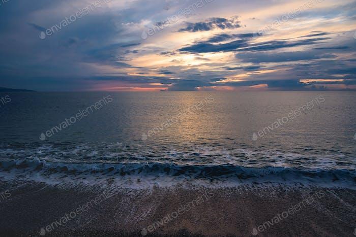 Puesta de sol en la Playa de Calabria
